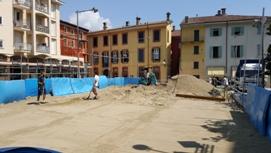 Verbano 24 prende forma il campo da beach volley in piazza san vittore